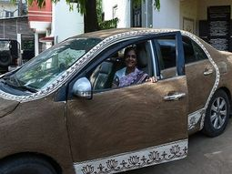 Using cow dung to cool down Toyota Corolla car? This Indian woman confirms it works!
