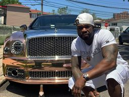 50 Cent drives gold Bentley Mulsanne back to hometown where he was shot 9 times in 2000