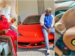 """B Naira Instagram today: Full of Ferrari & """"Fall on Me"""""""