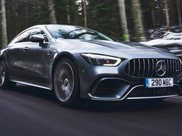 Details of the luxury racing Mercedes AMG GT four-door coupe 2019