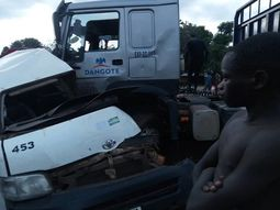 Updates on casualties in Plateau road crash between Dangote's truck & a HiAce bus