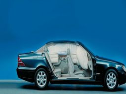 Back seat airbags for utmost safety is first time introduced by Mercedes Benz