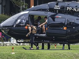 Neymar turns up at Brazil training with his customized Mercedes helicopter worth ₦5.3 billion