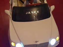 Like mum like son! Linda Ikeji's son Jayce cruises mini Bentley worth ₦180K