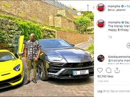 Dubai-based Nigerian entrepreneur Mompha celebrates birthday with Lamborghini Supercars