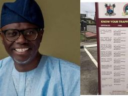 Lagos traffic rules and fines, signed by Sanwo Olu in 2019