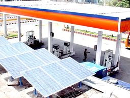 Nigerian paradox: Fuel station uses Solar panels for electricity