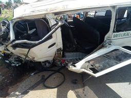 Funaabites bound for NYSC in near fatal accident in Jos; bus totaled