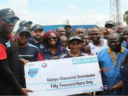Talented female mechanic in Ibadan celebrated in appreciation by BMW Club Nigeria