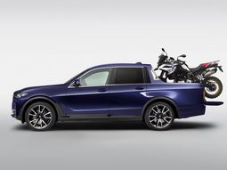 BMW Motorrad Days: BMW X7 converted into a real pickup truck