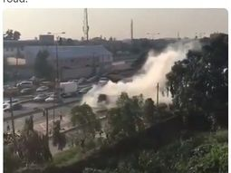 Fire! BRT bus goes up in flames in Lagos (Watch video)