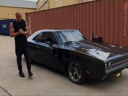 Vin Diesel hugged friends for getting a 1650hp Dodge Charger as a surprise birthday gift