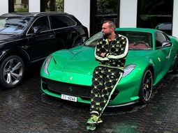 Ferrari threatens to sue the German fashion designer for placing his sneakers on top of ₦126m Ferrari car