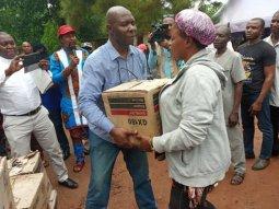 Senator Utazi Chukwuka shares his recovered 228 motorcycles & 51 tricycles to Enugu North indigenes