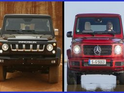 How many scores Innoson IVM G80 get in comparison with Mercedes G-Wagon?
