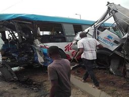 Dangote truck collides with BRT bus, kills 3, injuries 59 passengers