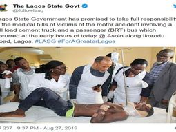 Dangote truck vs BRT accident: Lagos government pays full medical bills for all victims