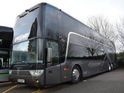 Take a tour inside Man Utd double-decker team bus worth ₦176m!