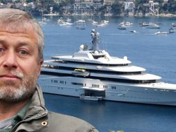 Photos of Roman Abramovich's superyacht where the Chelsea owner entertains with submarine & helipads