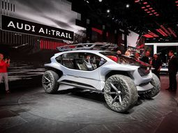 See the Audi AI: Trail Quattro off-road concept in its helicopter style!