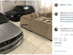 Man parked BMW & Volkswagen cars in the living room to save them from hurricane