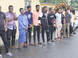 18 Yahoo boys in Lagos arrested, 4 expensive cars, charms, phones recovered