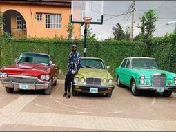 Kunle Afolayan's vintage car collection can make every car fan jealous