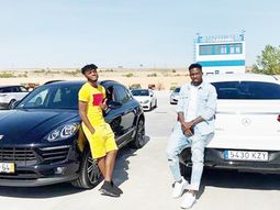 Super Eagles players Awaziem and Omeruo flaunt their ₦47m cars