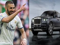 Karim Benzema of Real Madrid displays newly acquired Rolls-Royce Cullinan SUV