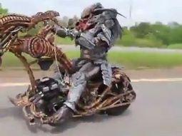 Alien sighted on Lagos-Ibadan highway with creepy bike