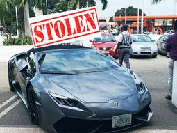 Stolen Lamborghini from Switzerland found in Ghana with a Lagos plate number