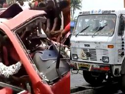 Woman miraculously survives car wreck by trailer in Benin