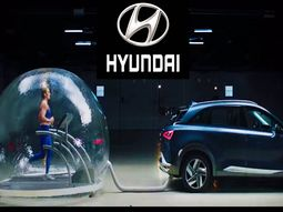 Hyundai Nexo's exhaust does not kill an athlete in connected sealed air bubble [watch video]