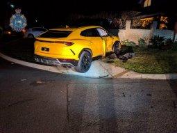 14-year-old crashes his stolen Subaru into a Lamborghini Urus