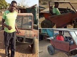 African grade-10 student builds his own car from scratch