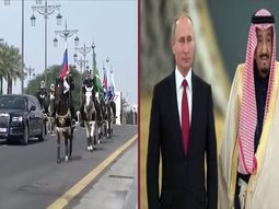 16 horses escorted Putin's armored limousine to Saudi King palace