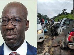 5 adults & 2 children killed in Edo governor's convoy accident