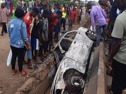 4 sisters died in Benin car crash, angered youths blame the gutter