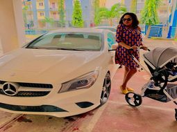 Toyin Abraham reveals full pic of her new ₦26m Mercedes Benz CLA 250