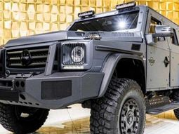 [Photos] Check out this Monster Mercedes G-Class Armoured SUV that can safely get you through a war zone
