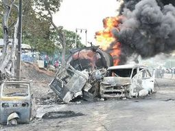 8 killed & many injured as NNPC tanker crashed into vehicles in Lokoja