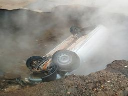 Two men boiled alive when hot water pipe burst in Russian car park