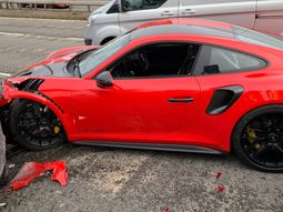 Brand new Porsches 911 GT2 RS crashes during test drive just a mile from dealership
