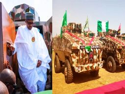 President Buhari commissions Made-in-Nigeria armored vehicles in Kaduna