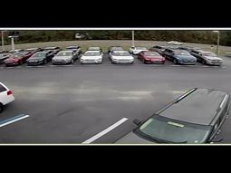 Car swerved off the road, flew over several cars at dealership (Video)