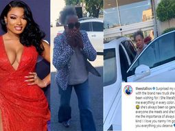 American rapper Megan Thee Stallion surprises Nanny with her dream Cadillac SUV
