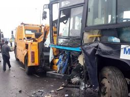 More than 100 Lagosians escape death as two BRT vehicles collide