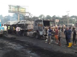 Jos-Abuja road accident: Two people were burnt to death