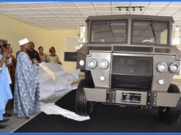 OSV unveiled Nigerian-made Tekowi armoured vehicle in Ekiti