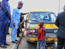 Deputy Governor of Lagos arrests 2 bus drivers driving against traffic
